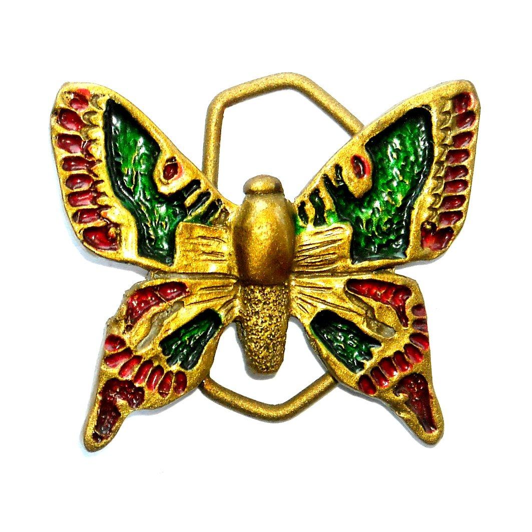 Butterfly Vintage Brass Color Belt Buckle