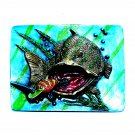 Big Bass 3D Fisherman Bergamot Color Belt Buckle
