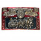 Budweiser Red 3D Great American US Pewter Belt Buckle