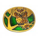 Great Horned Owl American Vintage Belt Buckle