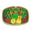 Country Music Indiana Metal Craft Vintage Belt Buckle