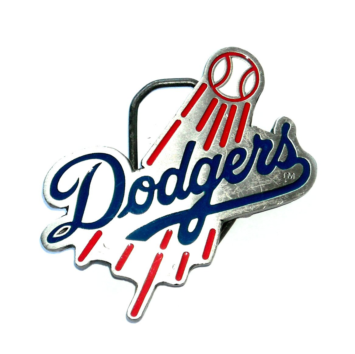 Los Angeles Dodgers Major League Baseball GAP Pewter Belt Buckle