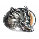 Sinful Angel Silver Color American Belt Buckle