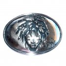 Voodoo Girl Sinful Silver Color American Belt Buckle