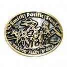 Smith Pacific Steel Dyna Brass Vintage Belt Buckle