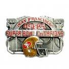 San Francisco 49ers NFL Super Bowl Vintage Siskiyou Pewter Belt Buckle