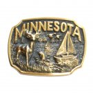 Minnesota Heritage Mint Solid Brass Vintage Belt Buckle