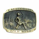 California Gold Rush Heritage Mint Solid Brass Vintage Belt Buckle