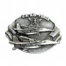 US Air Force Vintage 3D Bergamot Pewter Belt Buckle