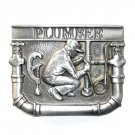 Plumber Vintage C J Pewter US Belt Buckle