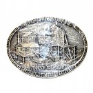 Montana Oldtimers Festival 1992 Award Design Brass Belt Buckle