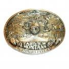 Lions Club Montana 1987 Award Design Brass Belt Buckle