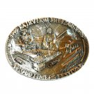 Montana Oldtimers Festival 1990 Award Design Brass Belt Buckle