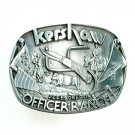 Kershaw Officer Ranch Izee Oregon Pewter Belt Buckle