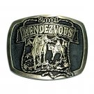 Rendezvous 2001 Hand Casted Solid Bronze Belt Buckle