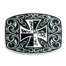 Montana Silversmiths Iron Cross Western Belt Buckle