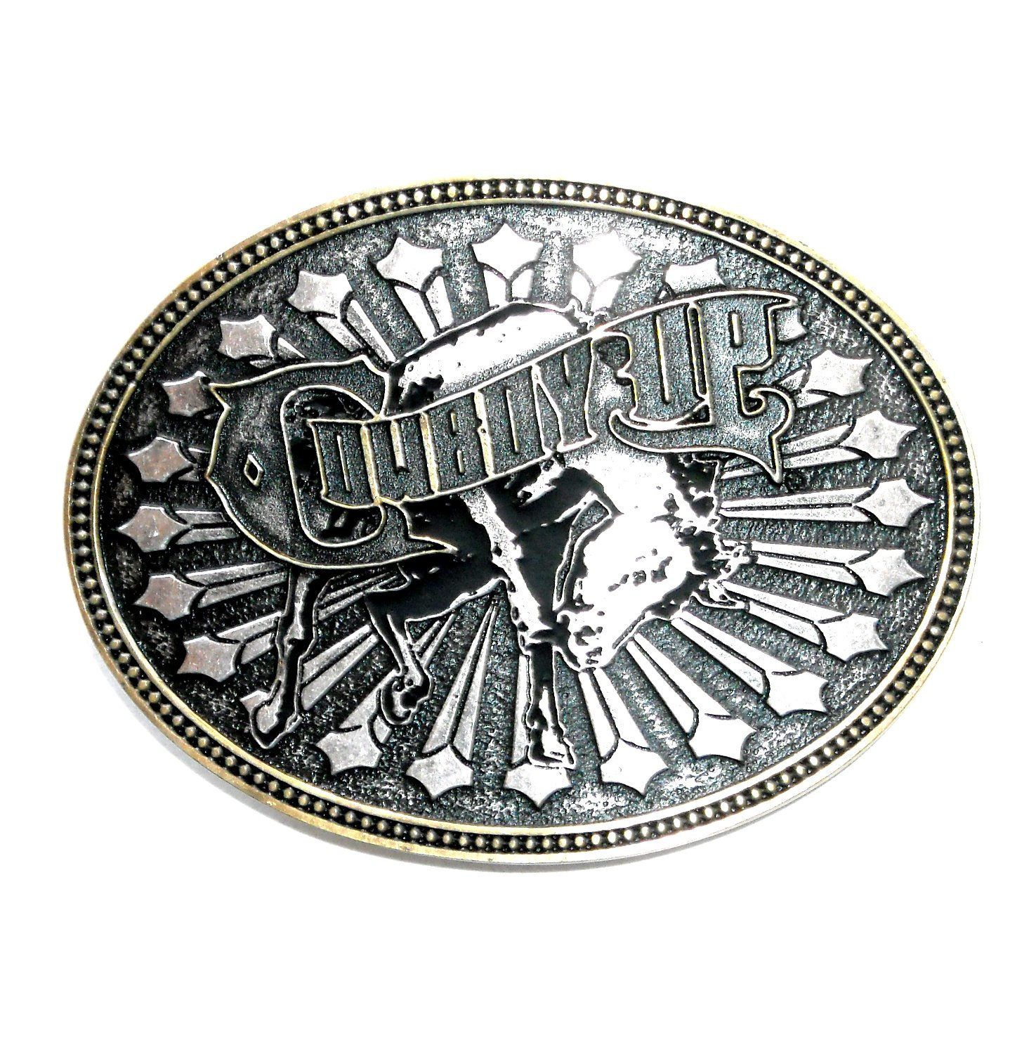 Montana Silversmiths Cowboy Up Rodeo Western Belt Buckle
