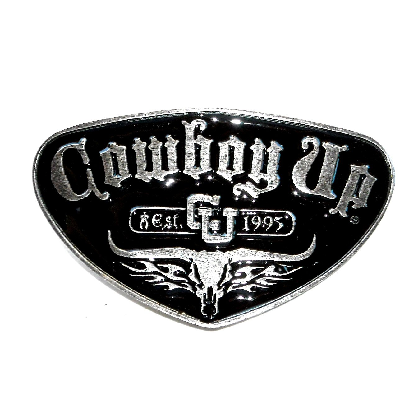 Cowboy Up Montana Silversmiths Attitude Western Belt Buckle