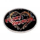 Heart Breaker Montana Silversmiths Western Attitude Belt Buckle