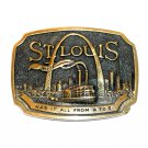 St Louis Heritage Mint Solid Brass Vintage Belt Buckle