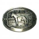Paint Horse Tony Lama Breeder Series Brass Belt Buckle
