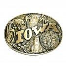 Iowa State Seal First Edition Award Design Brass Belt Buckle