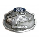 Ford Racing Team Bill Elliott Budweiser No 11 Pewter Belt Buckle