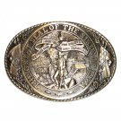 Iowa State Seal Tony Lama Brass Belt Buckle