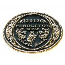 Montana Silversmiths Pendleton Round Up Rodeo 2013 Gold Plated Belt Buckle