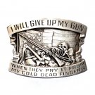 I Will Give Up My Gun Indiana Metal Craft Solid Pewter Classic Western Belt Buckle