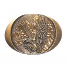 American Bald Eagle Vintage Indiana Metal Craft Brass Classic Western Belt Buckle