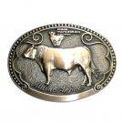 Maine Anjou Tony Lama First Edition Brass Belt Buckle
