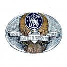 Vintage Smith & Wesson Eagle Logo Pewter Color American Belt Buckle
