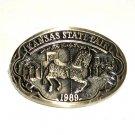 Early Days Kansas State Fair 1989 Award Design Solid Brass Belt Buckle