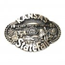 Kansas State Fair 1984 Award Design Solid Brass Belt Buckle