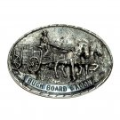 Buck Board Wagon 3D Tony Lama Vintage First Edition Brass Belt buckle