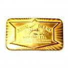 John Deere Moline Historical Trademark Vintage Belt Buckle