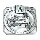 Model A John Deere Tractor Pewter 1989 Belt Buckle