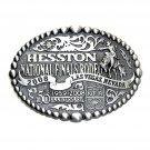 Hesston 2008 Wrangler NFR Rodeo SMALL Montana Silversmiths Belt Buckle