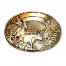 Robert Henderson Team Roper Tony Lama Trophy Brass Belt Buckle