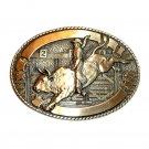Robert Henderson Bull Rider Tony Lama Trophy Brass Belt Buckle