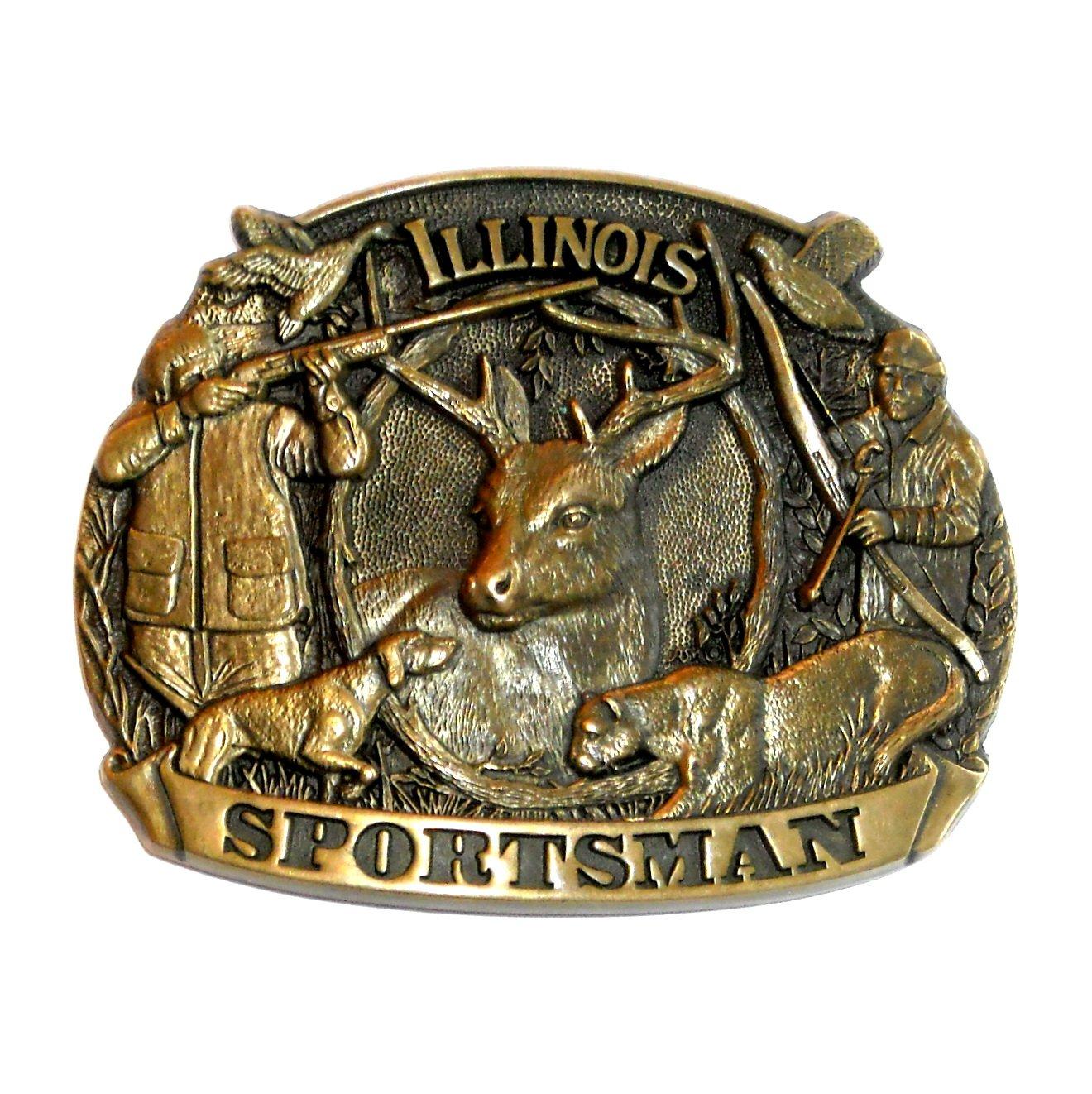 Illinois Sportsman First Edition ADM Brass Belt Buckle