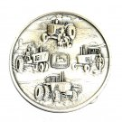 John Deere 1982 Silver Plated Round Belt Buckle