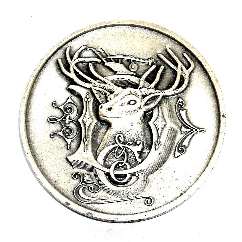 1981 John Deere Silver Plated Round Belt Buckle