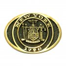 New York Seal Heritage Mint Solid Brass Vintage Belt Buckle