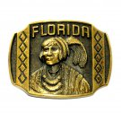 Florida Heritage Solid Brass Vintage Belt Buckle