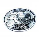 John Deere 50 Series Combines Pewter Belt Buckle