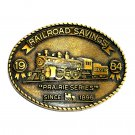 Prairie Series RailRoad Savings 1984 Brass Color Belt Buckle