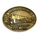Mountain Series RailRoad Savings 1985 Brass Color Belt Buckle