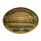 Texas Series RailRoad Savings 1987 Brass Color Belt Buckle